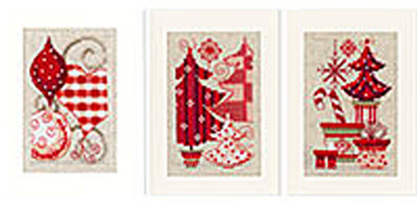 Christmas Motifs Greetings Cards Cross Stitch Kit